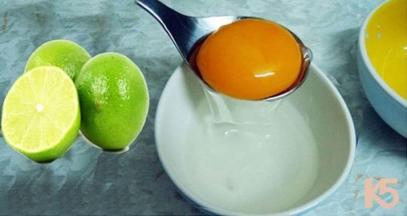 cách chữa nám bằng hỗn hợp lòng trắng trứng và chanh