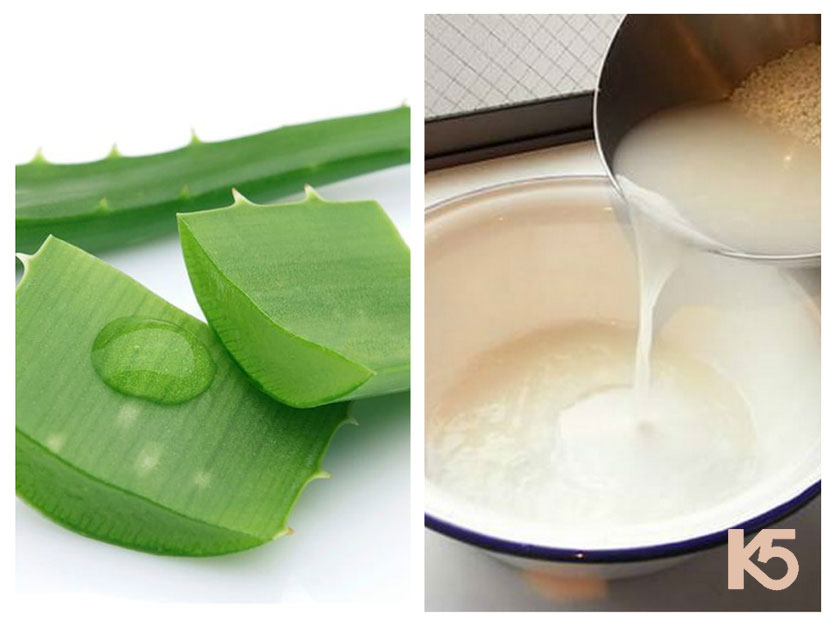 Cách trị nám nhanh nhất tại nhà bằng nước vo gạo và nha đam