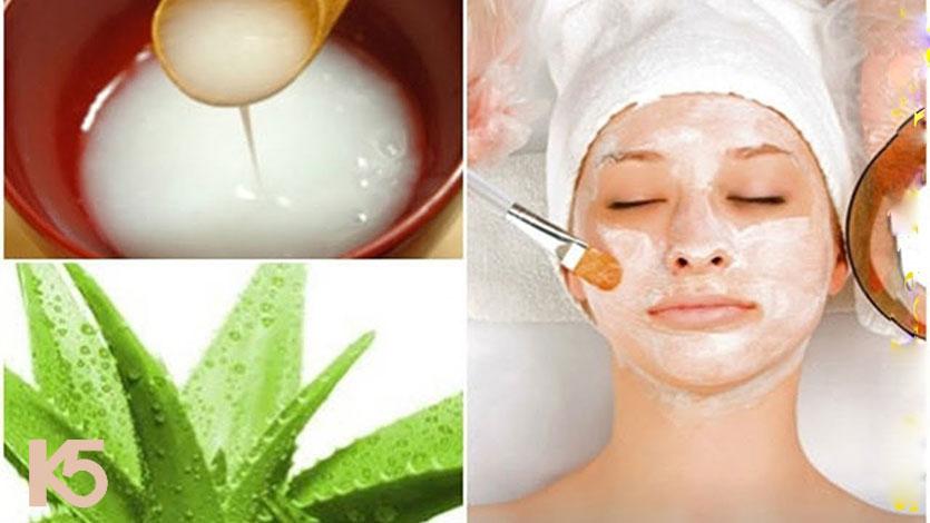 Mặt nạ hỗn hợp nha đam và nước vo gạo giúp chữa nám hiệu quả