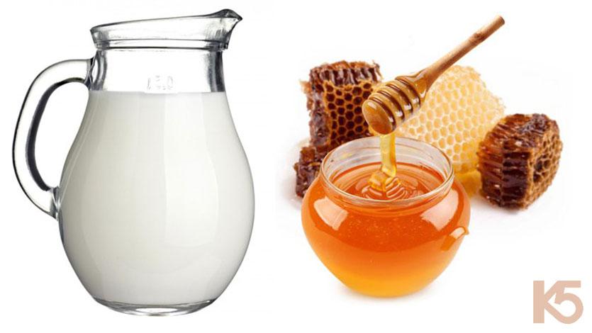 Hỗn hợp sữa tươi mật ong rất tốt cho trị nám