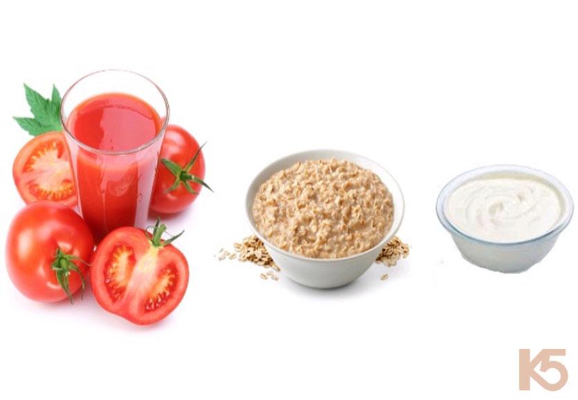 Trị nám bằng mặt nạ cà chua bột yến mạch sữa tươi