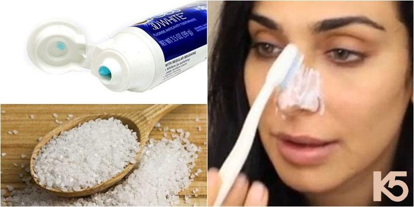 Mẹo trị nám bằng kem đánh răng và muối