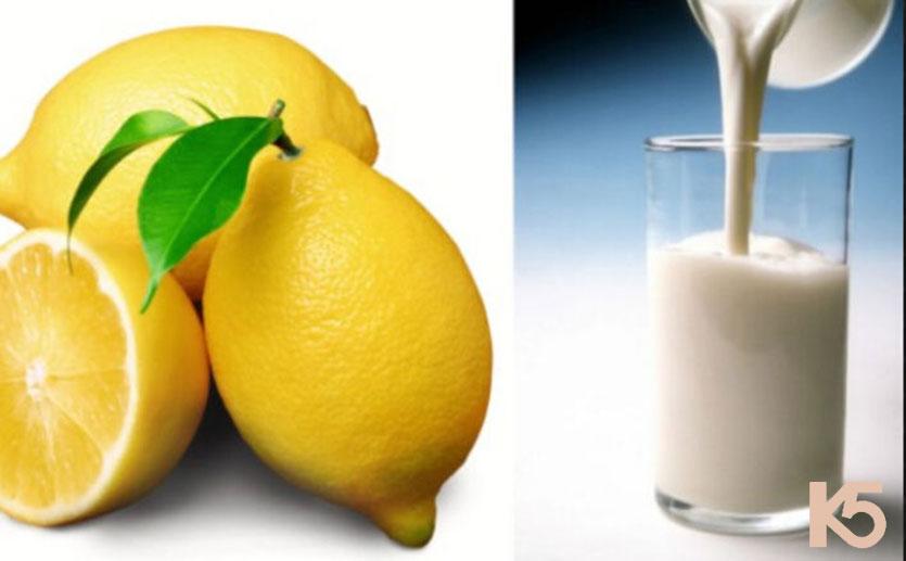 Trị nám da bằng chanh tươi và sữa tươi
