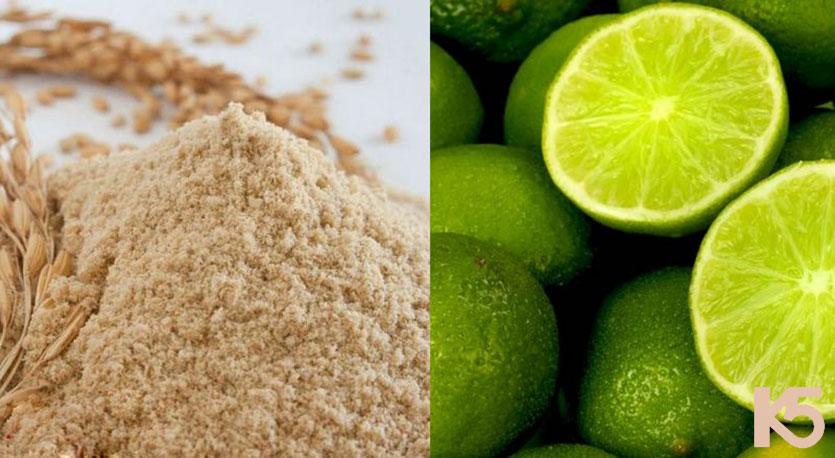 Trị nám da bằng chanh và cám gạo