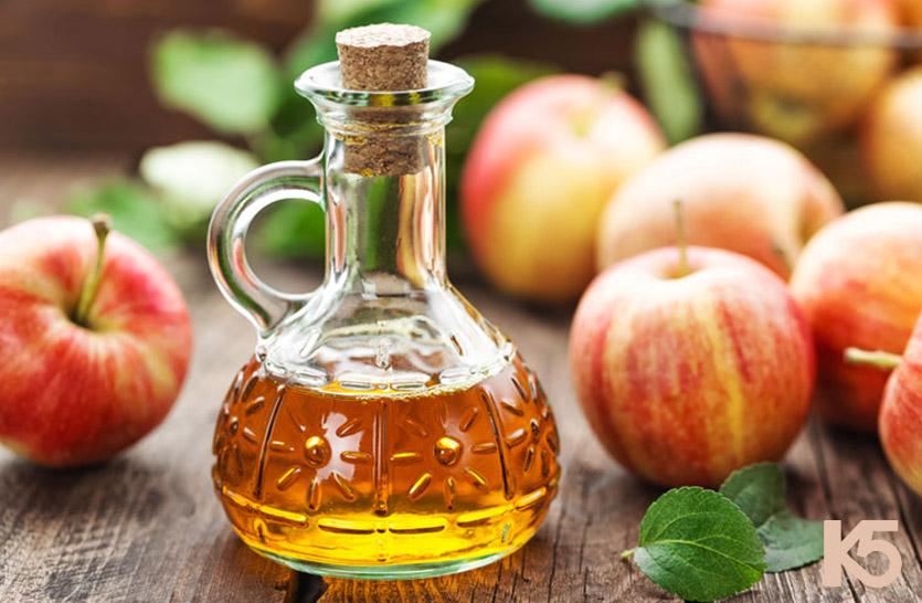Trị nam da bằng giấm táo