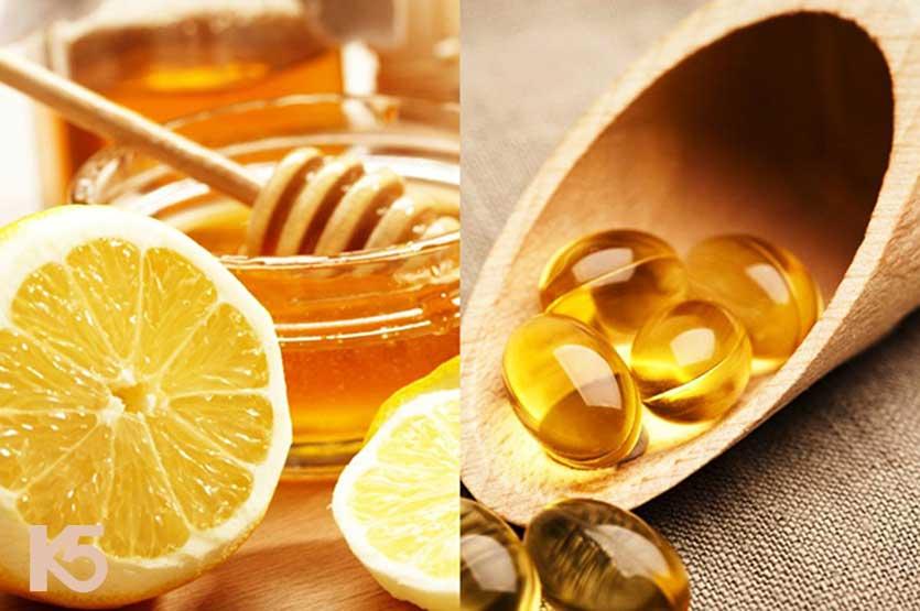 Vitamin e, mật ong và chanh