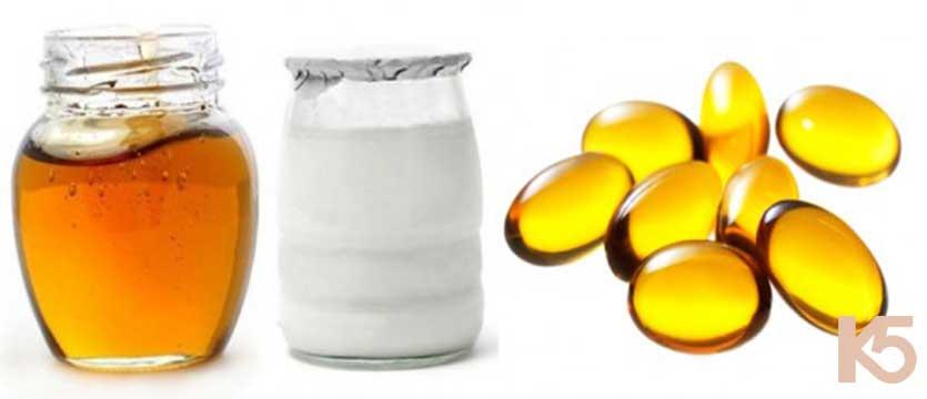 Vitamin e, sữa chua và mật ong