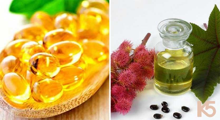 Vitamin e và dầu thầu dầu