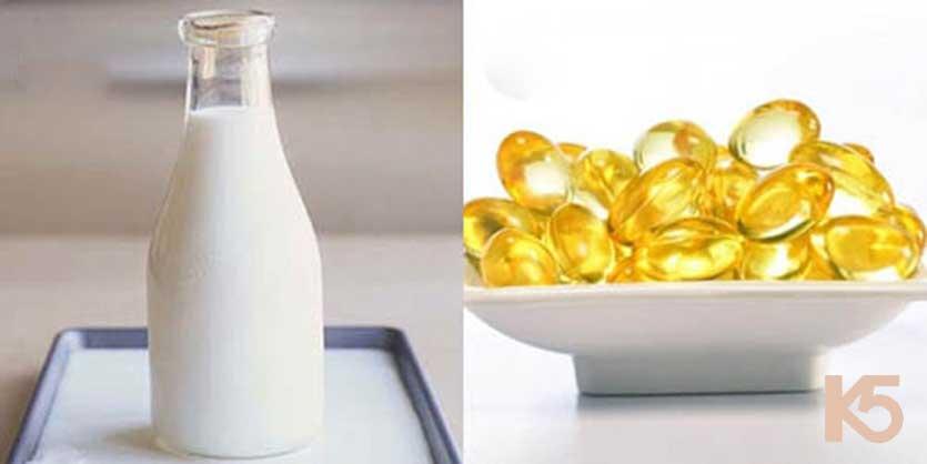 Vitamin e và sữa tươi