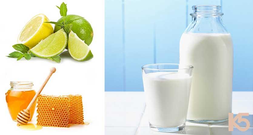 Sữa mẹ, mật ong và chanh