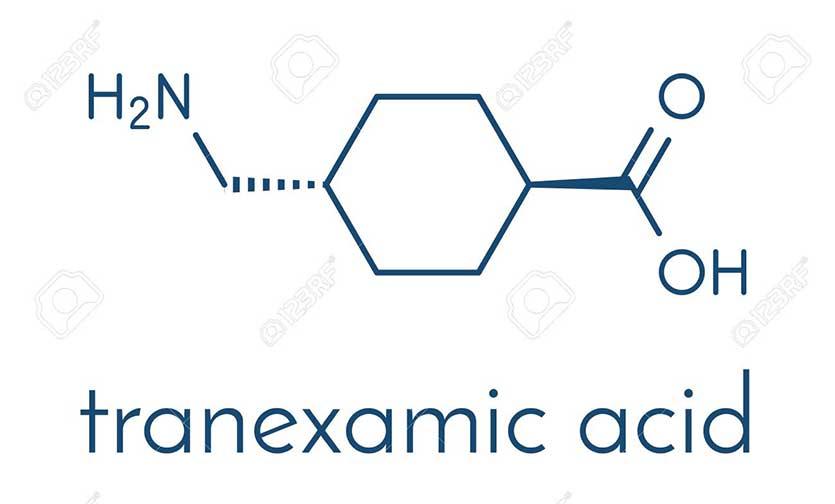 Thành phần Tranxemic-acid có trong thuốc trị nám cho nam giới