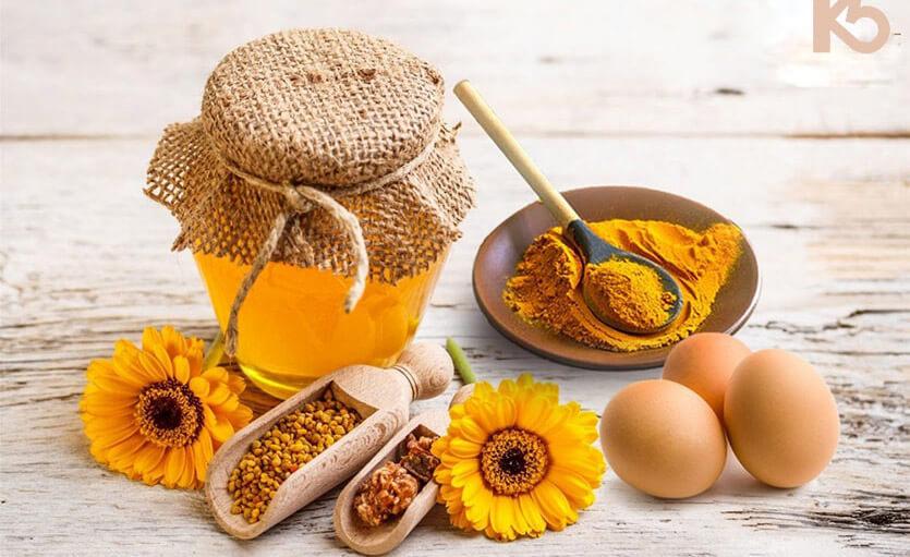 Trứng gà mật ong nghệ