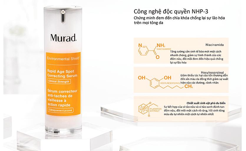 Murad hãng dược mỹ phẩm trị nám da của Nhật Bản