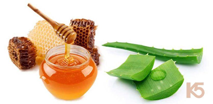 Chữa nám da mặt bằng cây lô hội với mật ong
