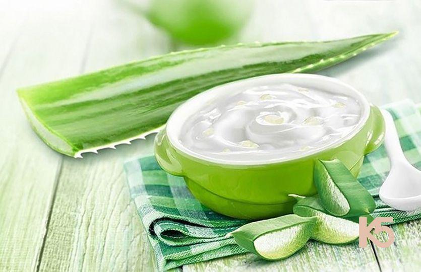 chữa nám da mặt bằng cây lô hội với sữa chua