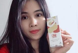 Khuôn mặt trắng sáng mịn màng của chị Hương sau liệu trình dùng K5 Lipogel