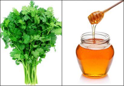 Rau mùi và mật ong