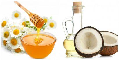 Dầu dừa kết hợp với mật ong
