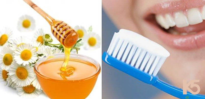 Kem đánh răng và mật ong