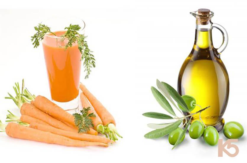 Cà rốt và dầu oliu