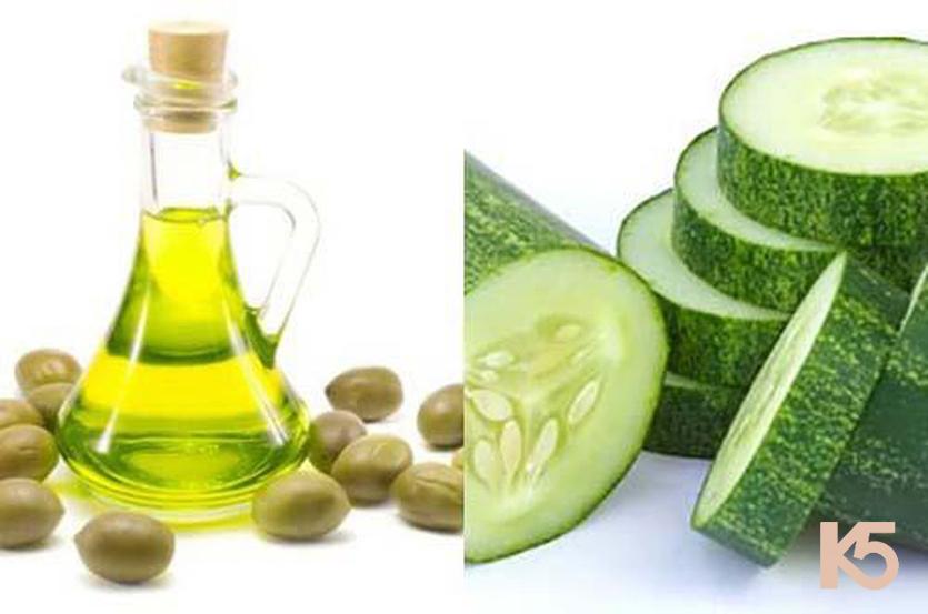 Dưa leo và dầu oliu, vitamin c