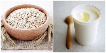 Sữa chua và bột yến mạch