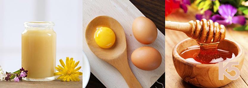 Sữa ong chúa và lòng đỏ trứng gà