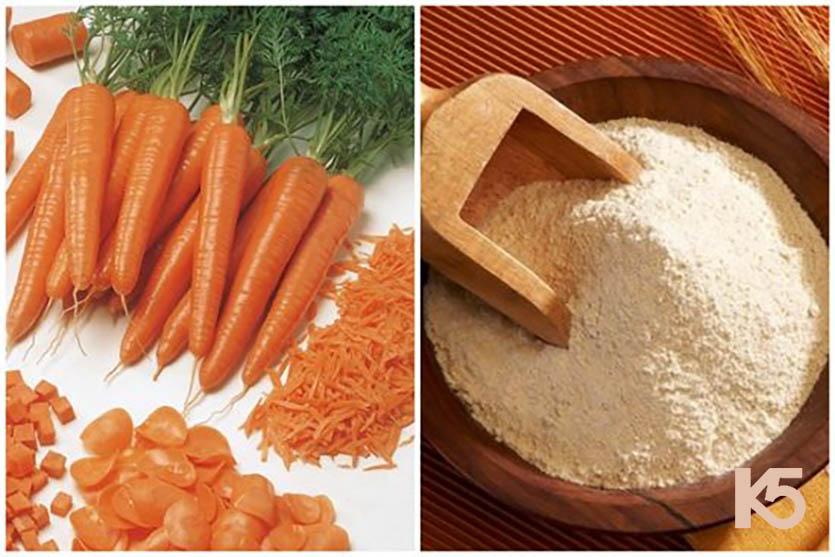 Trị nám bằng cà rốt và bột gạo