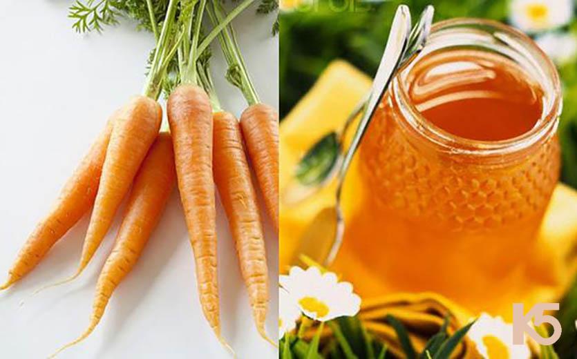 Trị nám bằng cà rốt và mật ong