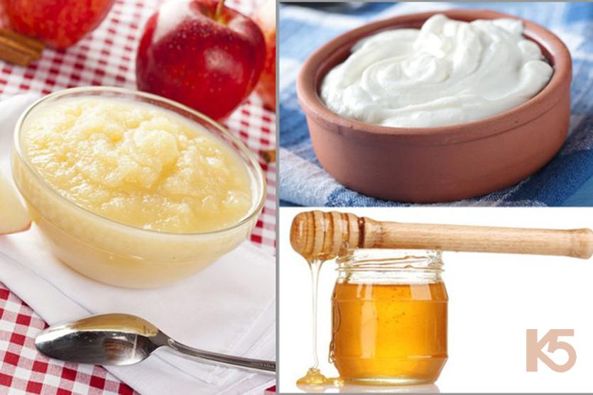 Giấm táo kết hợp với mật ong và sữa chua