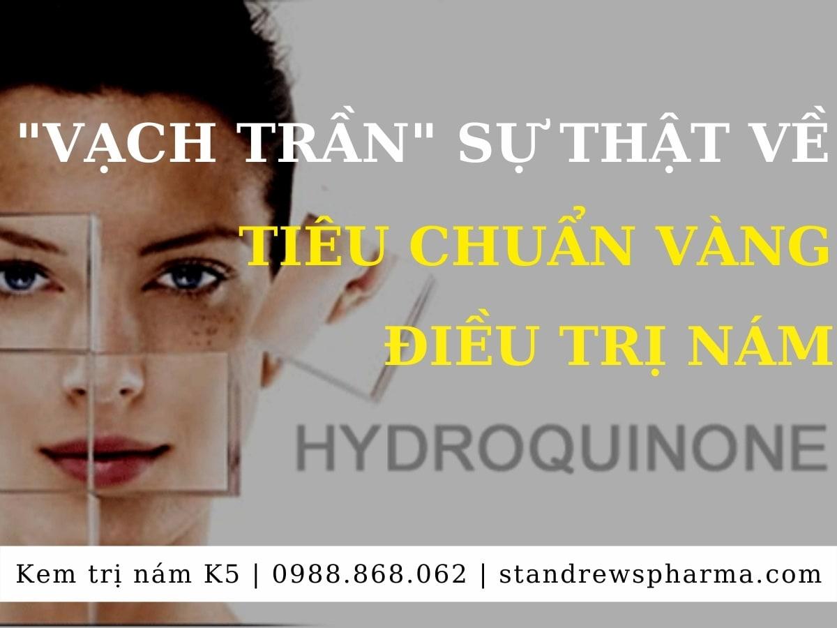 Tác dụng phụ của Hydroquinone